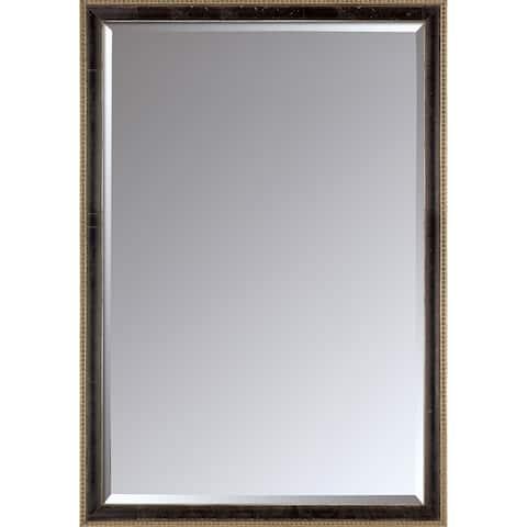 "La Pastiche by overstockArt Antiqued Athenaeum Scoop Framed Mirror, 39.5"" x 27.5"" - 39.5x27.5"