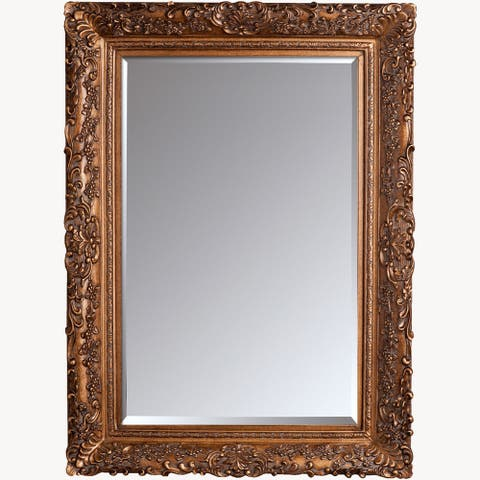 "La Pastiche by overstockArt Burgeon Gold Framed Mirror, 45.5"" x 33.5"" - 45.5x33.5"