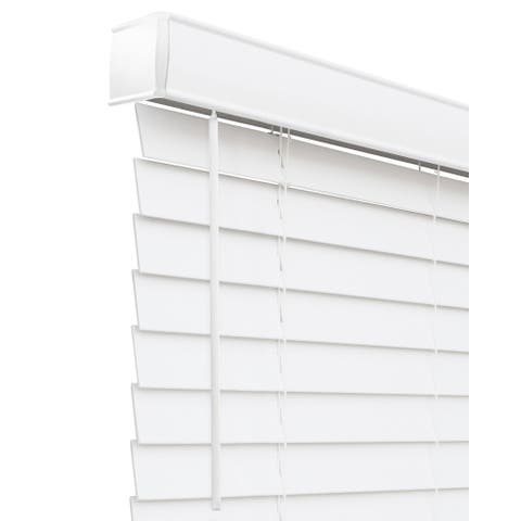 CHICOLOGY Cordless Faux Wood Blind, Basic White