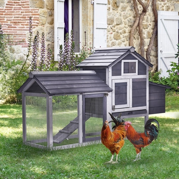 """Shop PawHut 59"""" Solid Wood Enclosed Outdoor Backyard ..."""