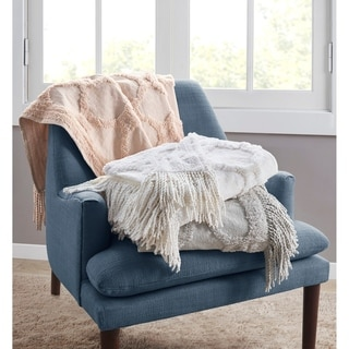 Link to Madison Park Hannah Cotton Tufted Throw Similar Items in Blankets & Throws