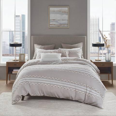 INK+IVY Lennon Organic Cotton Jacquard Comforter Set