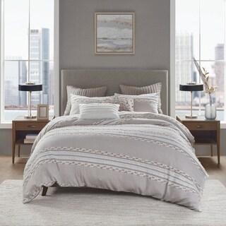 Link to INK+IVY Lennon Organic Cotton Jacquard Comforter Set Similar Items in Comforter Sets