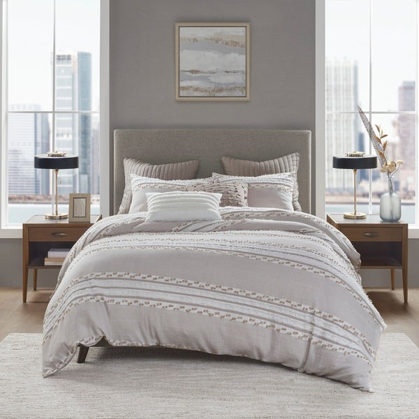 INK+IVY Lennon Organic Cotton Jacquard Comforter Set. Opens flyout.