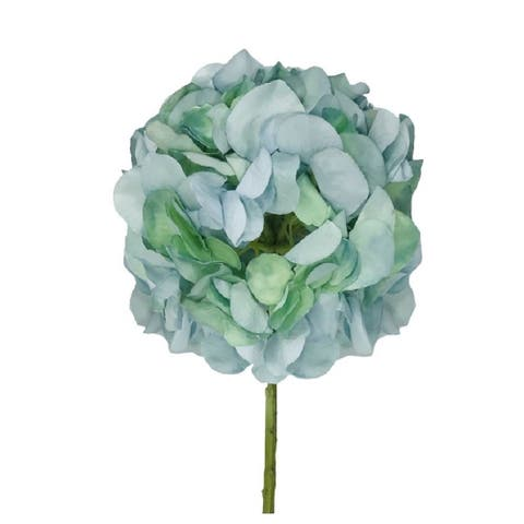 "Hydrangea Stem Aqua Green 21"" Set of 6"