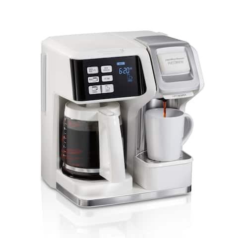 Hamilton Beach FlexBrew 2-Way Coffee Maker White