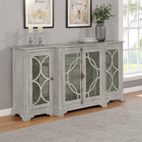 Best Quality Furniture Wood Dining Servers with 4 Large Storage Cabinets (Single)