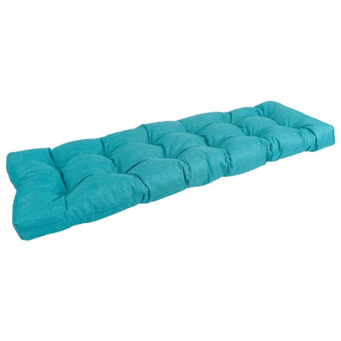 55-inch by 19-inch Tufted Solid Outdoor Spun Polyester Loveseat Cushion