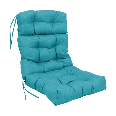 Blazing Needles 22-inch by 45-inch Solid Outdoor Chair Cushion