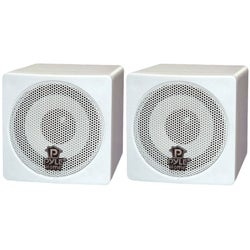 PylePro 3-inch 100-watt White Mini Cube Speakers