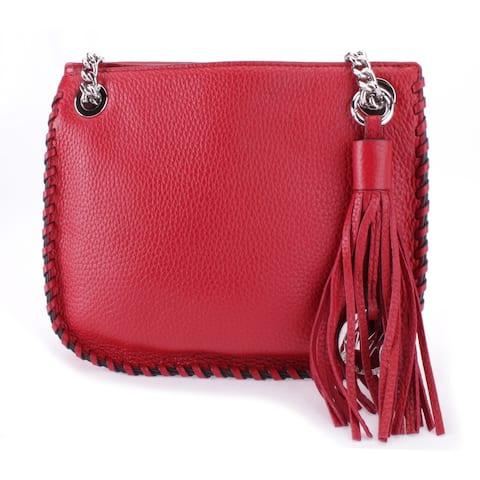 Michael Kors Women's Whipped Chelsea Small Messanger Crossbody Bag, Red 35T7SWCM1L