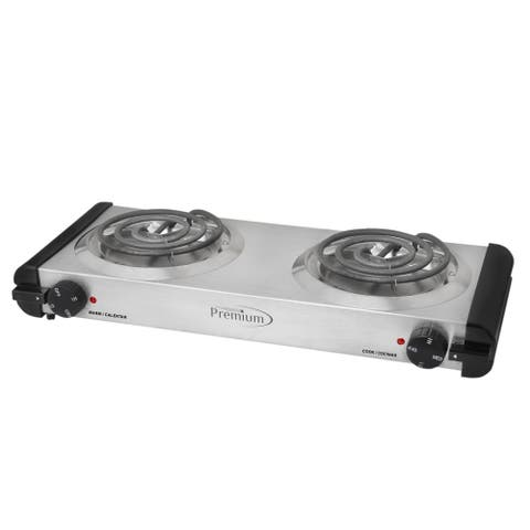Deluxe Portable Double Electric Burner