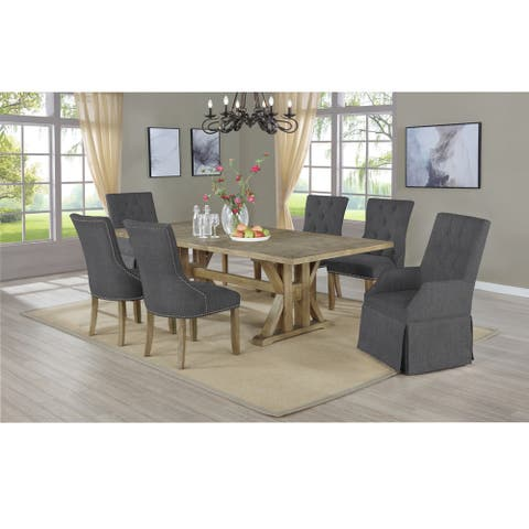 Best Quality Furniture Rustic Style 7-Piece Dining Set