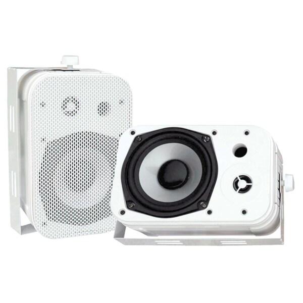 PylePro 5.25-inch White Waterproof Speakers