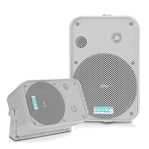 Shop pyle pdwr50w dual waterproof outdoor speaker system 6 - Waterproof sound system for bathroom ...