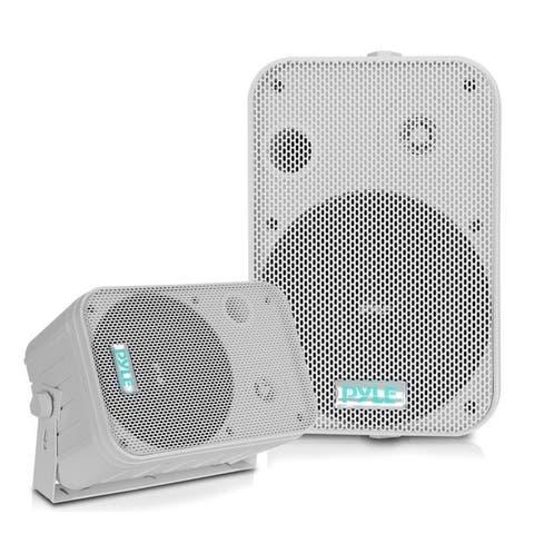 Pyle PDWR50W Dual Waterproof Outdoor Speaker System 6.5 Inch Pair of Weatherproof Wall/Ceiling Mounted Speakers w/Heavy Duty