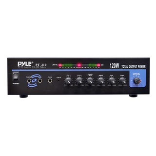 120-Watt Microphone PA Mono Amplifier with 70V Output and Mic Talkover
