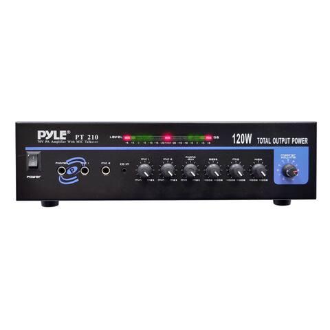 Pyle PT210 120W MICROPHONE PA Mono Amplifier w/70V Output & Mic Talkover