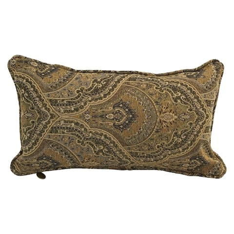 18-inch Corded Patterned Jacquard Chenille Lumbar Throw Pillow