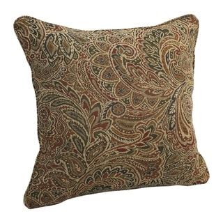 Link to 18-inch Corded Patterned Jacquard Chenille Square Throw Pillow Similar Items in Decorative Accessories