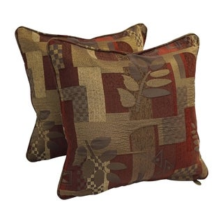 Link to 18-inch Corded Patterned Jacquard Chenille Square Throw Pillows (Set of 2) Similar Items in Decorative Accessories