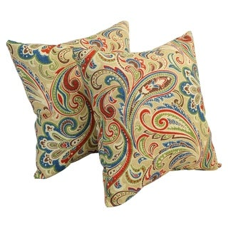 Link to Blazing Needles 17-inch Square Polyester Outdoor Throw Pillows (Set of 2) Similar Items in Patio Furniture