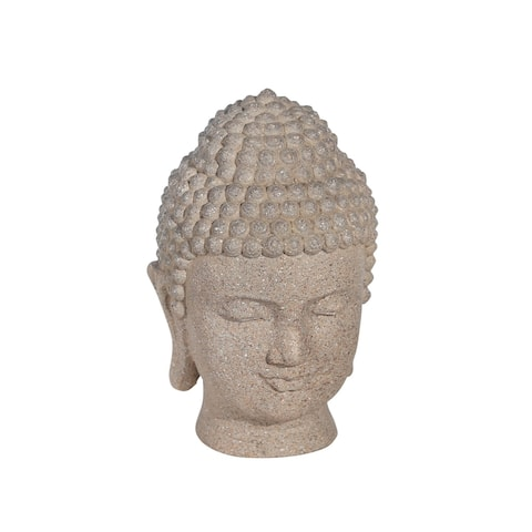 "Resin 7.5"" Buddha Head,Stone"