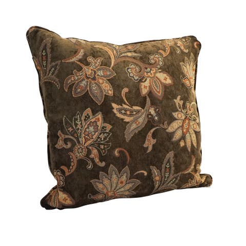 25-inch Corded Patterned Tapestry Square Floor Pillow