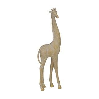 "Polyresin 17"" Giraffe Figurine, Gold"