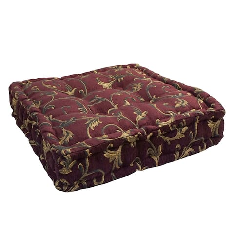 20-inch Square Button-tufted Floor Pillow