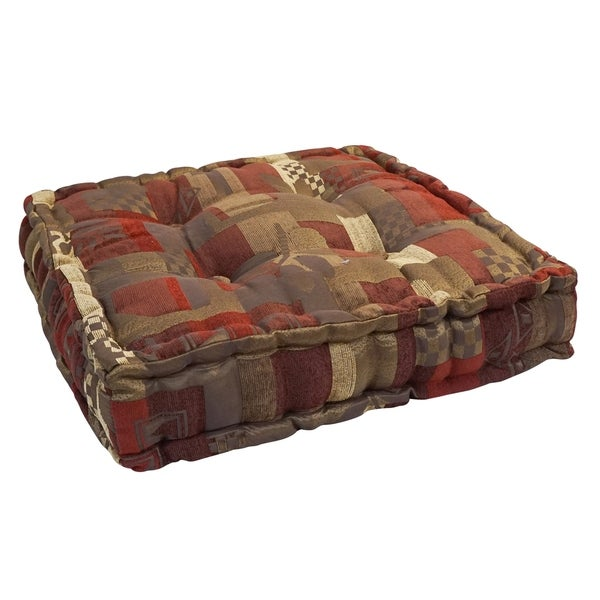 20-inch Square Button-tufted Floor Pillow. Opens flyout.