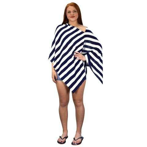 Womens Light Weight Summer Poncho Cardigan Beach Cover up - One Size