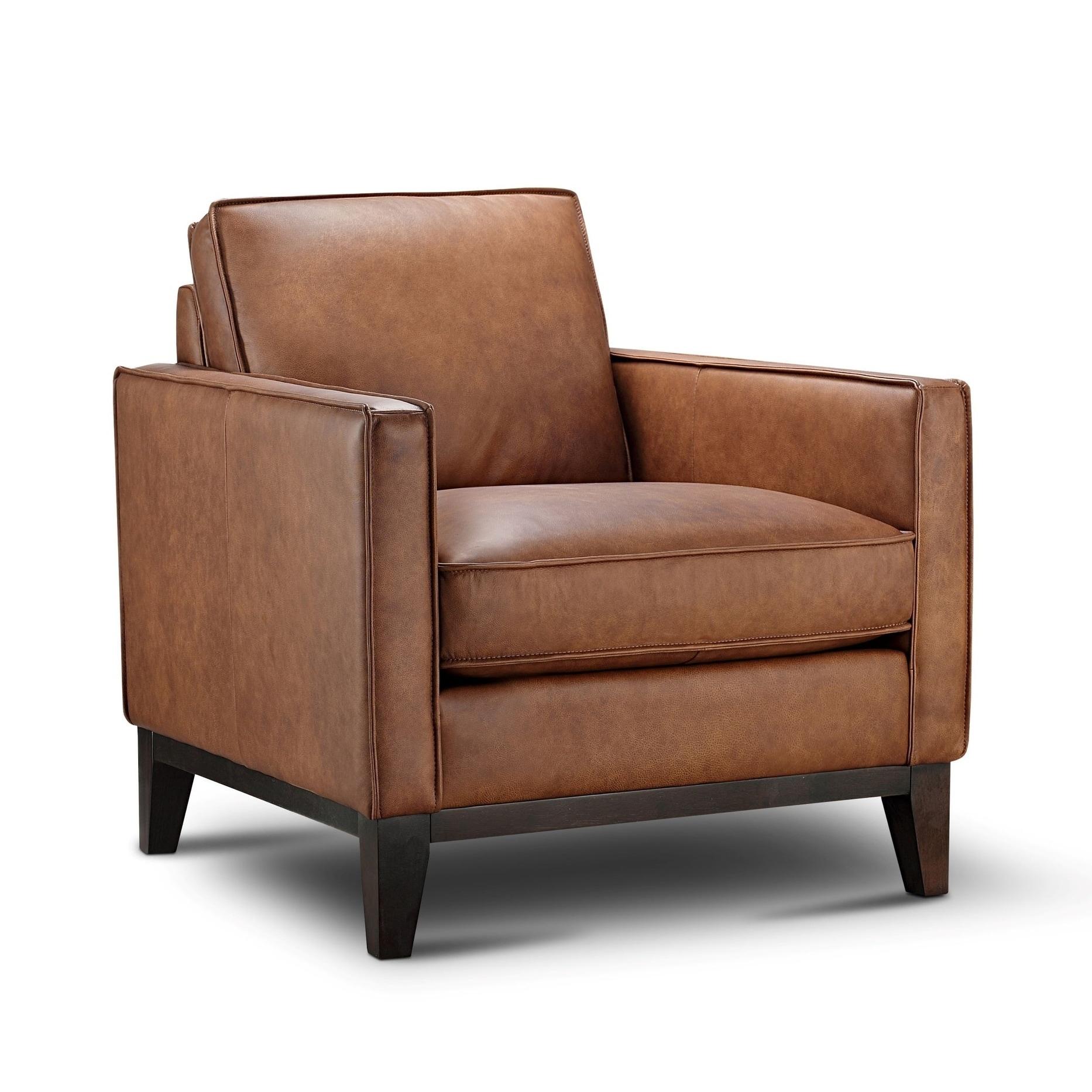 Pimlico Top Grain Leather Armchair Overstock 30972097