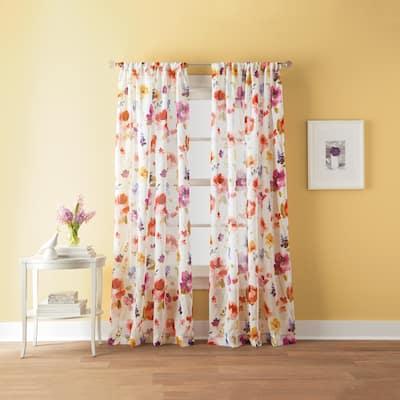 Sabel Watercolor Print Rod Pocket Curtain Panel