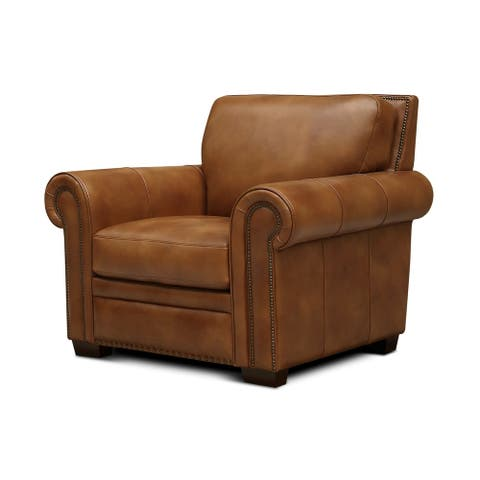 Toulouse Top Grain Leather Armchair