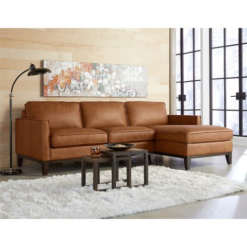 Pimlico Top Grain Leather Sectional with Chaise
