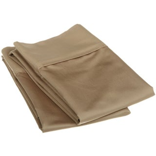 Superior Egyptian Cotton 1200 Thread Count Solid Pillowcase Set (Set of 2) (Option: Standard / Taupe)
