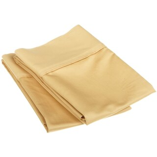 Superior Egyptian Cotton 1200 Thread Count Solid Pillowcase Set (Set of 2) (Option: King / Gold)