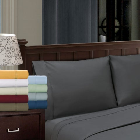 Superior Egyptian Cotton 1200 Thread Count Solid Pillowcase Set (Set of 2)