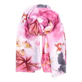 Link to Silk Scarfs for Women Fashion Neck Scarves Floral Printed Casual Scarf Similar Items in Scarves & Wraps