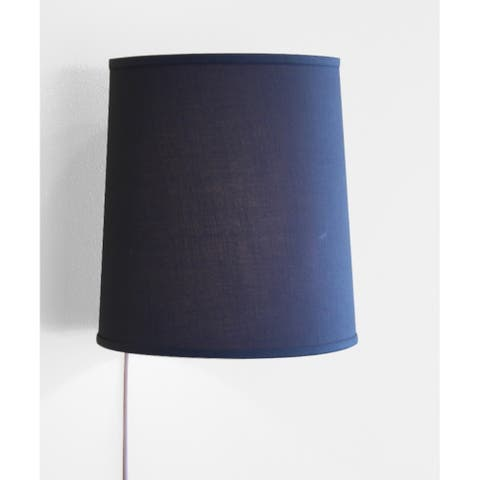 Floating Shade Plug-In Wall Light Textured Slate 12x14x15