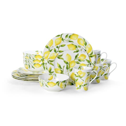 Mikasa Lemons Bone China 16 Piece Dinnerware Set (Service for 4)