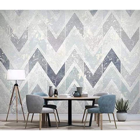 Zigzag Pattern Chevron Stripe Nordic Textile Wallpaper