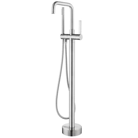 Delara Freestanding Chrome Tub Faucet with Hand Shower