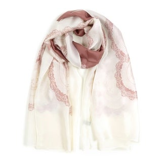 Silk Lightweight Scarf for Women Floral Printed Neck Wrap Fashion Scarves