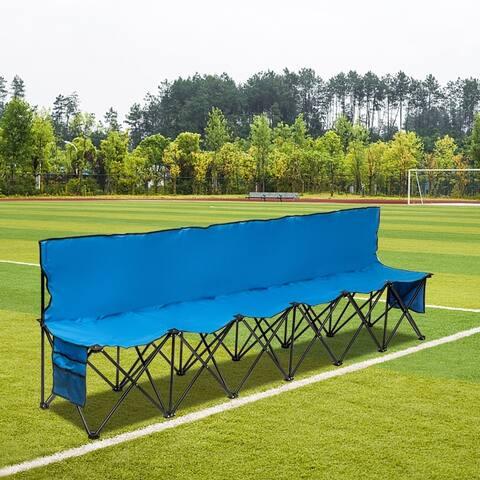 Outdoor Camping Six Folding Chair 270x50x83cm Blue