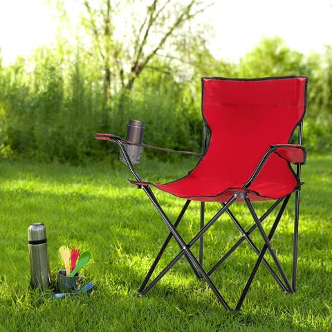 Outdoor Camp Chair 80x50x50 Red/Blue