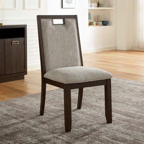 Furniture of America Mair Transitional Beige Side Chairs (Set of 2)