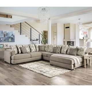 Link to Furniture of America Stym Transitional Grey Solid Wood Sectional Similar Items in Living Room Furniture