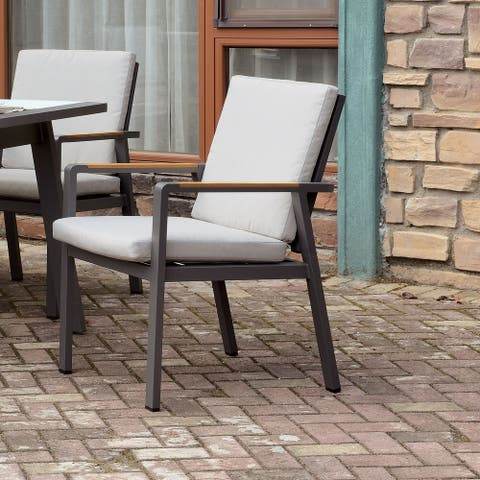 Furniture of America Lais Transitional Beige Arm Chairs (Set of 6)